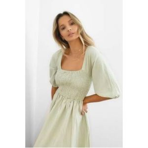 Nasty Gal Shirred Maxi Dress
